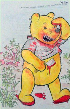 Coloring Book Corruptions Pooh No Bear