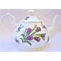 Fine English Bone China Teapot - Thistle Chintz - Made in England