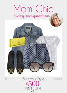 MOM CHIC: Fashion blends with function! Look like a million bucks while you're keeping comfort in mind. Don't forget to enter to win $500 at divinecaroline.com/strut-your-style