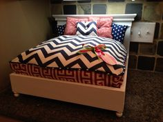 Modern Preppy Pet Bed by SimplyJeanna on Etsy, $125.00