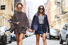 It's a sister thing with Aimee and Dani Song. #refinery29 http://www.refinery29.com/2016/09/120553/nyfw-spring-2017-best-street-style-outfits#slide-42