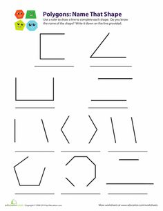 Worksheets: Polygons: Name that Shape