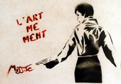 Miss.tic - l'art me ment Graffiti Words, Street Art Graffiti, Baddie Quotes, Land Art, Street Artists, Public Art, Urban Art, Oeuvre D'art, Art Pictures
