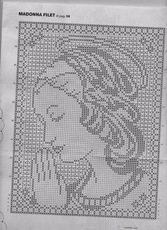 Schema uncinetto volto Madonna