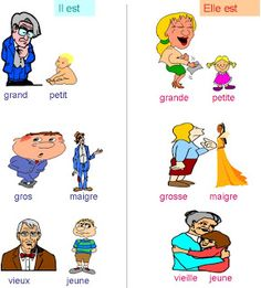 ... How To Speak French, Learn French, French Basics, French Adjectives, French Signs, French Worksheets, French Classroom, France 1, French Lessons