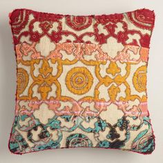 One of my favorite discoveries at WorldMarket.com: Sari Applique Throw Pillow