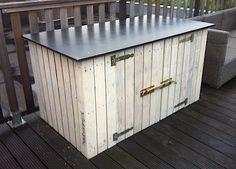 kussenkast Lanai, Outdoor Furniture, Outdoor Decor, Outdoor Storage, Deck, Pallets, Wood, Home Decor, Decoration Home