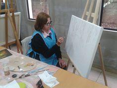 Elsa Contreras ¡Bienvenida al Taller de Pintura, Grupo Macul!