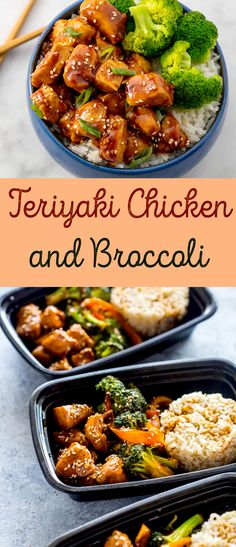 Chicken Teriyaki And Broccoli Recipe, Healthy Teriyaki Chicken, Yummy Chicken Recipes, Broccoli Recipes, Yum Yum Chicken, Broccoli Chicken, Amazing Vegetarian Recipes, Delicious Vegan Recipes, Healthy Recipes