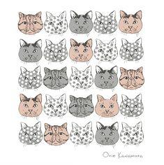 Orie's illust. #illust #catdesign #catillust #猫デザイン #猫イラスト #細密画 #猫の絵 #おしゃれイラスト Kids Rugs, Cats, Illustration, Decor, Gatos, Decoration, Kid Friendly Rugs, Illustrations, Cat