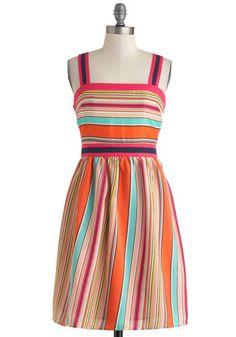 Fruit-Striped Fun Dress, #ModCloth