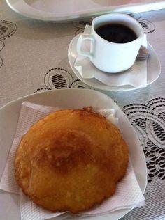 Arepa de huevo for breakfast in Colombia - Journey Latin America