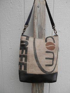 Burlap Bag -  Coffee Bean  Shoulder Bag
