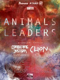"""NEWS: The experimental metal band, Animals As Leaders, have announced a U.S. tour to support their newest album, """"The Joy Of Motion."""" Conquering Dystopia and Chon will join as support. You can check out the dates and details at http://digtb.us/aaltour"""