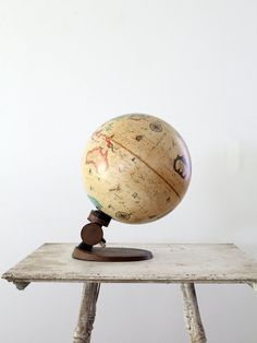 vintage lighted globe / electric world globe by 86home on Etsy, $320.00