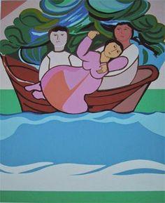 Barco - Cícero Dias e suas principais pinturas ~ Pintor pernambucano Georges Braque, Henri Matisse, Arte Pop, Smurfs, Literature, Fictional Characters, Folk Art, Beautiful Paintings, Rio De Janeiro
