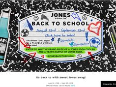 """Enter The Jones Soda """"Back to School"""" Giveaway Sweepstakes for a chance to win a…"""