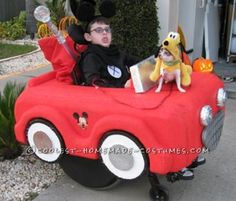 This year my son picked Mickey Mouse as his costume and every year we have to incorporate a costume for the wheelchair. We start with a heavy c