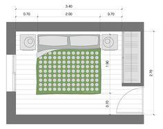 Minimas dimensiones para dormitorios matrimoniales for Dimensiones de cama matrimonial