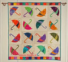 Dancing Umbrella quilt by sticksuse | design by Edyta Sitar