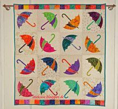 Dancing Umbrella quilt by sticksuse | design by Edyta Sitar