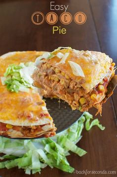 Easy Mexican Chicken Stack! Great family dinner recipe!