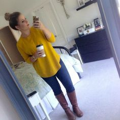 Coffee Beans and Bobby Pins: Happy Halloweenie and a look at my iPhone Brown Shoes Outfit, Happy Halloweenie, Fashion Beauty, Womens Fashion, Yellow Sweater, Look At Me, New Wardrobe, Brown Boots, Get Dressed
