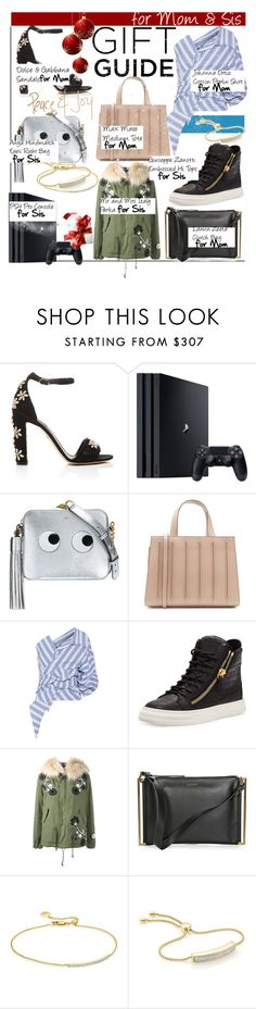 """""""Gift Guide : @arethaman & @jules2"""" by nfabjoy ❤ liked on Polyvore featuring Dolce&Gabbana, Sony, Anya Hindmarch, MaxMara, Johanna Ortiz, Giuseppe Zanotti, Mr & Mrs Italy, Lanvin, Monica Vinader and giftguide"""