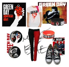"""""""Green Day"""" by katsavy on Polyvore featuring Converse"""