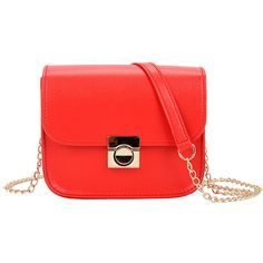 SheIn(sheinside) Faux Leather Chain Flap Bag (70 CNY) ❤ liked on Polyvore featuring bags, handbags, shoulder bags, red, vegan leather handbags, red purse, vegan handbags, flap bag and faux-leather handbags