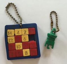 Vintage Slide Number Puzzle Keychains Plas Trix 16 and 34 Puzzles | eBay