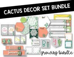 This bundle is currently finished and no longer growing, but possibly in the future. Currently this bundle includes: -Calendar, includes two different month styles -Word wall or poster letters, 2 different styles -Birthday banner, 2 different styles -Desk name tags, many different styles -Target pouch tags, many different styles and can be used for
