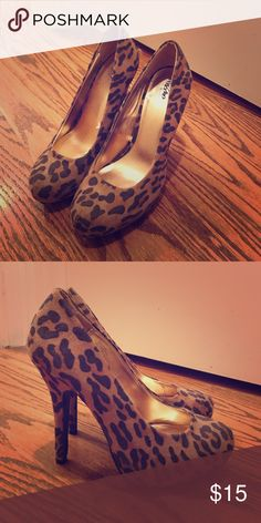 Leopard heels Cute heels Mossimo Supply Co Shoes Heels
