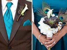 teal and white wedding - Click image to find more Weddings Pinterest pins