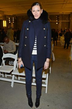 Jenna Lyons in the crowd at Altuzarra