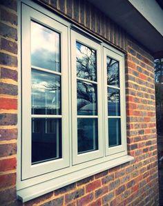 Painswick Residence 9 windows with Georgian bar installed by Window Tech Trade Dormer Windows, Sliding Windows, Casement Windows, House Windows, Windows And Doors, House Window Design, Window Grill Design, Door Design, House Design