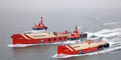 Damen Fast Crew Supplier 3507 and an FCS 5009 both are built according to the Damen Sea Axe design that reduces slamming up to 75% and increases crew comfort. http://damen.nl/news/2012/04/fast_crew_suppliers
