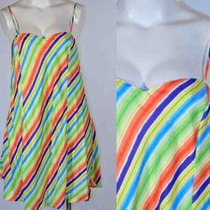 4897d50e9 Body Soul Silk Candy Stripe Design Chemise Nightgown 2X  BodySoul   BabydollChemise Candy Stripes