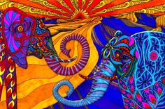 psychedelic weed art - Google Search