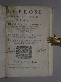 Le prose-Nelle Quali si ragiona-PIETRO BEMBO-Gravure sur bois - 1586 | eBay Books, Ebay, Woodcut Art, Woodblock Print, Libros, Book, Book Illustrations, Libri