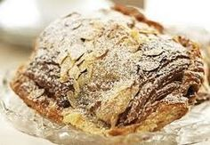 One of my favorite viennoiserie, or afternoon fancy pants pastry - croissant amandes! choco