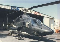 Airwolf with its miniature version