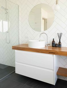 Home Renovation Hacks 5 essential design hacks that will inspire your bathroom renovation - Whether you're starting from scratch or planning a new update, these bathroom design rules will help you to create a space you'll love using Small Bathroom Renovations, Bathroom Renos, Bathroom Remodeling, Bathroom Ideas, Budget Bathroom, Bathroom Designs, Ikea Hack Bathroom, Ikea Bathroom Vanity, Bathroom Shelves
