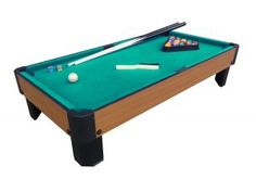 Here's a table top #pooltable that you can enjoy. Just attach the legs are you're ready to play. Enjoy!