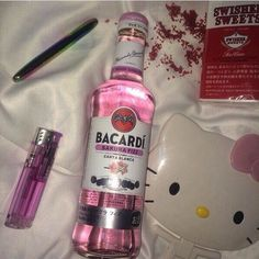 Bad Girl Aesthetic, Aesthetic Grunge, Rauch Fotografie, Alcohol Aesthetic, Hello Kitty Items, Hello Kitty Car, Puff And Pass, Bacardi, Pink Walls