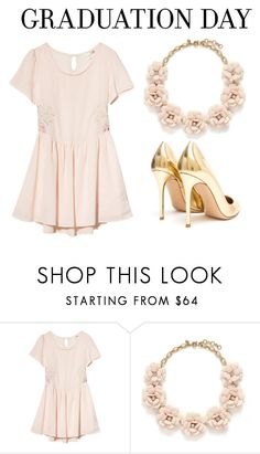 """Graduation Day Style #1"" by hideous ❤ liked on Polyvore featuring Rhythm., J.Crew, Gianvito Rossi, contest, formal, GraduationDayStyle and congratsgrad"