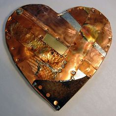 Copper Heart...I want to make art like this for my own house someday. That would be so much fun!