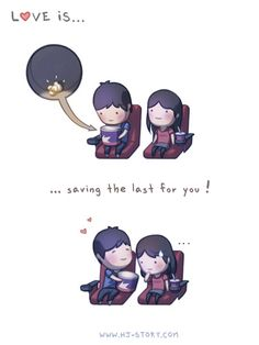 While browsing the net for treasures we found a gold mine of clever and cute drawings made by HJ Story with love drawings and love messages Hj Story, Comics Love, Cute Comics, Cute Love Cartoons, Cute Cartoon, Love Is Sweet, What Is Love, Ah O Amor, Love Cartoon Couple