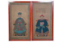 Chinese's Ancestral Portraits, Pair on OneKingsLane.com