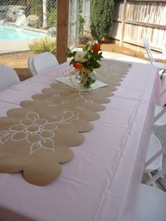 Hand Painted Table Runners On Brown Paper! So Chic! And Super Cute!